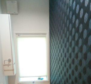 わが家の1階トイレの青色系アクセントクロス