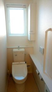2階トイレには一条工務店の標準仕様クロスを採用!