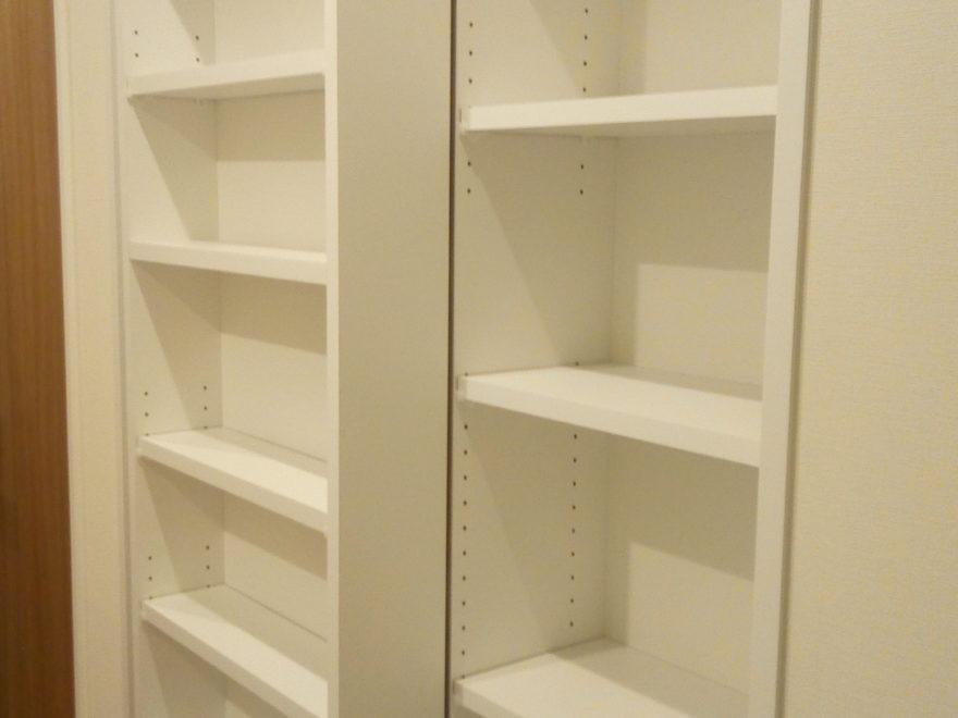 一条工務店の標準仕様、採用したブックシェルフ(本棚)♪