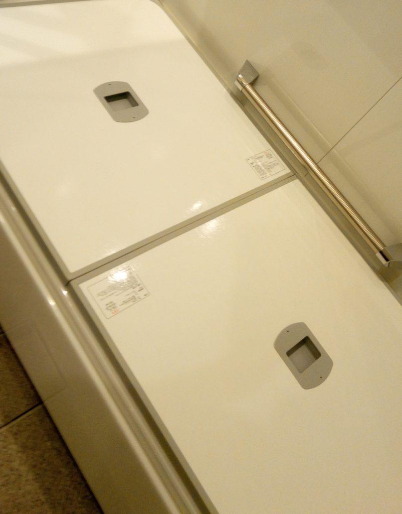 ユニットバス浴槽二枚蓋(取っ手付)断熱性能低