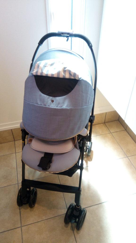 アンブレラシェードを閉めると、雨や紫外線から赤ちゃんを守れる!