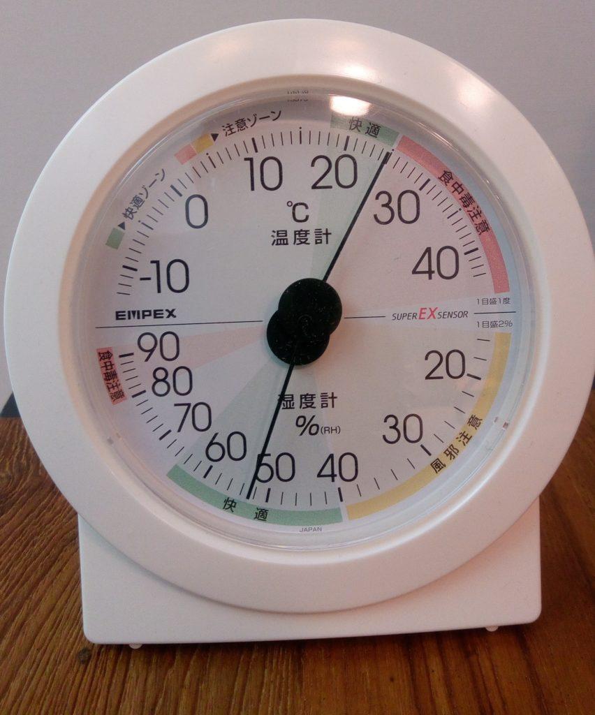 冬場の湿度は50%前後がおすすめ