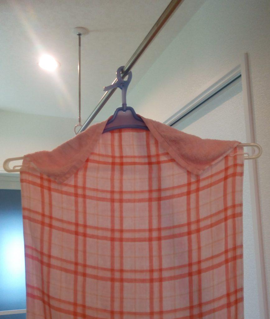 バスタオルなどの大判タオルを早く乾かす工夫!