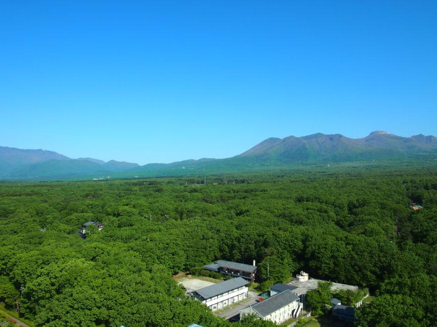 那須高原の山々、180度の大パノラマ