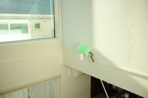 室内壁に設置したダウンライトもバッチリ