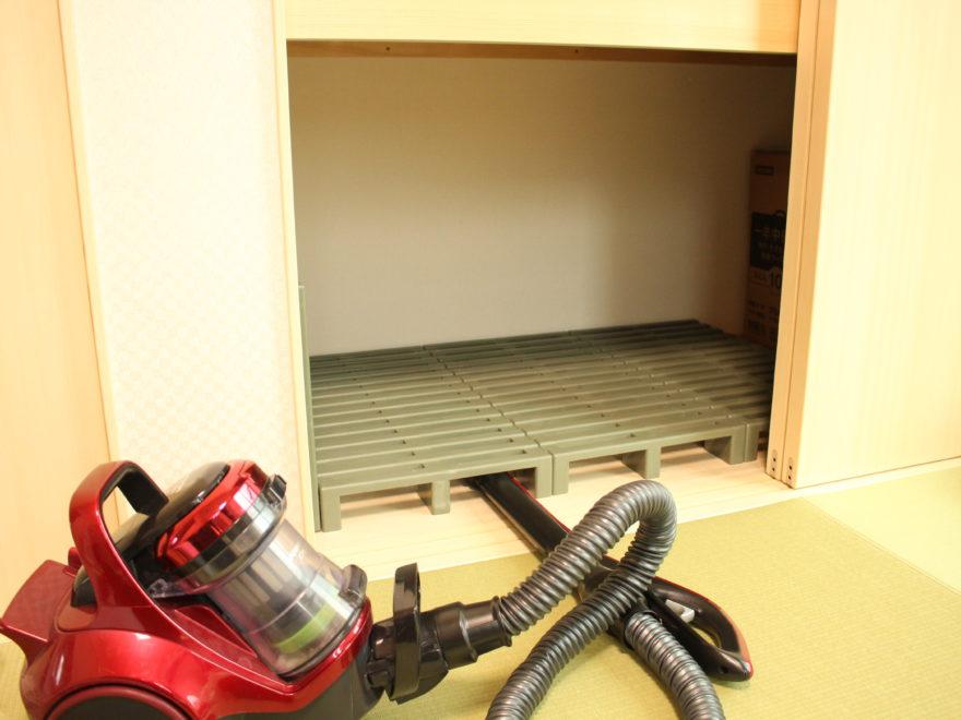 高床式のスノコなので、掃除機のノズルも入れやすい