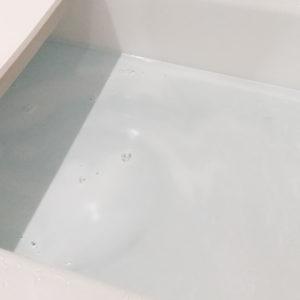 お風呂にジャバ(1つ穴用)を入れた様子